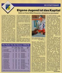Eishockey News Sonderheft DEB-Ligen 95-96  Spezial II
